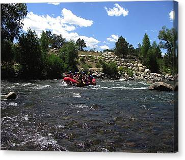 Rafting The River Canvas Print by Steven Parker