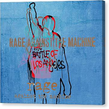 Rage Against The Machine Canvas Print by Dan Sproul