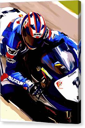 Rage With Machine Mat Mladin Canvas Print by Iconic Images Art Gallery David Pucciarelli