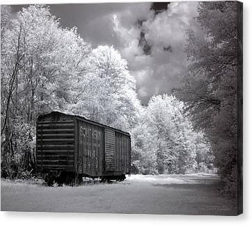 Rail Car Canvas Print by Terry Reynoldson