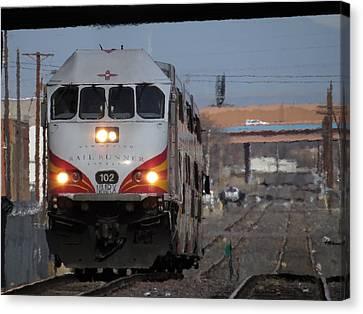 Rail Runner Canvas Print by Feva  Fotos