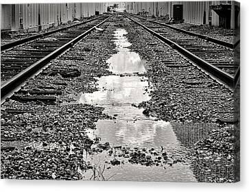 Railroad 5715bw Canvas Print by Rudy Umans