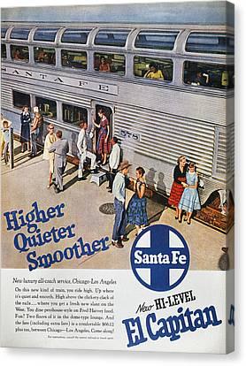 Railroad Ad, 1957 Canvas Print by Granger