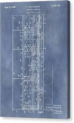 Railroad Car Patent Canvas Print by Dan Sproul