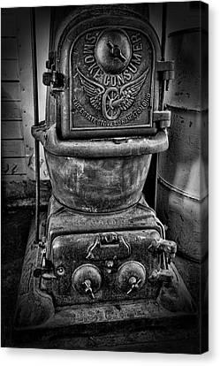 Railroad Smoke Consumer Stove Canvas Print by Daniel Hagerman