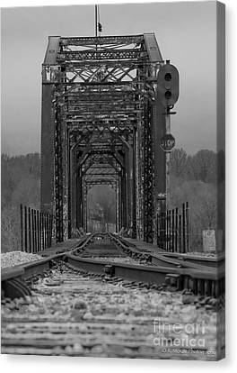 Railroad Trestle Canvas Print by Rick McKee