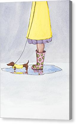 Rain Boots Canvas Print by Christy Beckwith