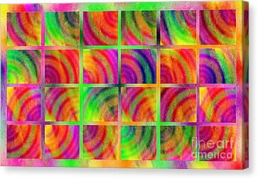 Rainbow Bliss 3 - Over The Rainbow H Canvas Print by Andee Design