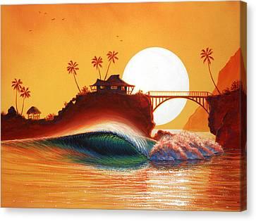 Rainbow Bridge Canvas Print by Patrick Parker