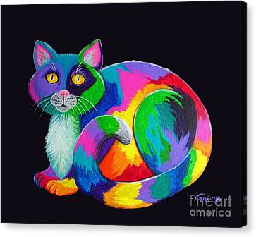 Rainbow Calico Canvas Print by Nick Gustafson
