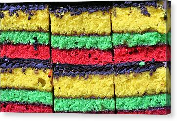 Rainbow Cookies Canvas Print by JC Findley