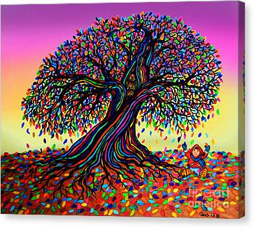 Rainbow Dreams And Falling Leaves Canvas Print by Nick Gustafson