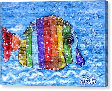 Rainbow Fish Canvas Print by Kathy Marrs Chandler