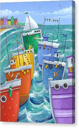 Rainbow Flotilla Canvas Print by Peter Adderley