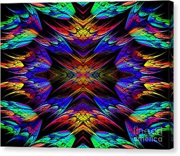 Rainbow Flyers Canvas Print by Andee Design