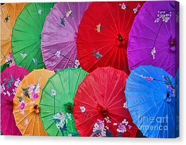 Rainbow Of Parasols   Canvas Print by Alexandra Jordankova