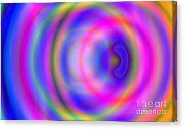 Rainbow Of Rings Canvas Print by Christy Leigh