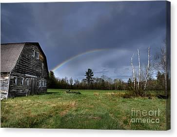 Rainbow On The Farm Canvas Print by Alana Ranney