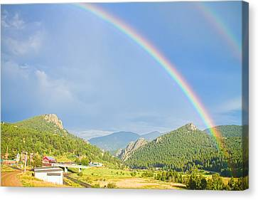 Rainbow Over Rollinsville Canvas Print by James BO  Insogna
