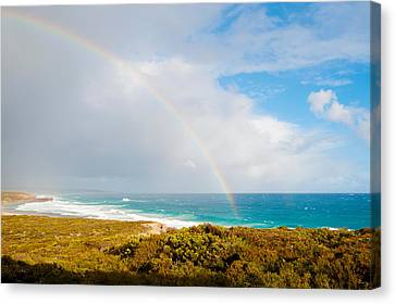 Rainbow Over The Pacific Ocean, South Canvas Print by Panoramic Images