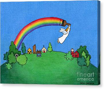 Rainbow Painter Canvas Print by Sarah Batalka