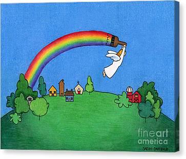 Rainbow Painter Canvas Print by Sarah Batalka