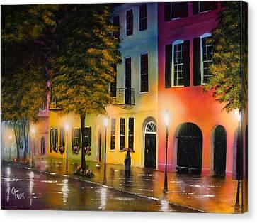 Rainbow Row Canvas Print by Chris Fraser