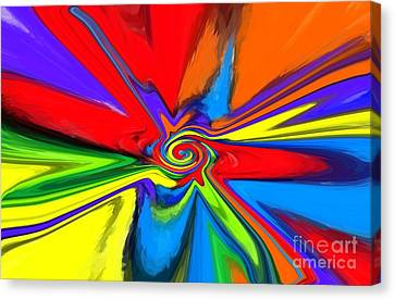 Rainbow Time Warp Canvas Print by Chris Butler
