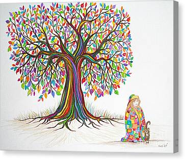 Rainbow Tree Dreams Canvas Print by Nick Gustafson