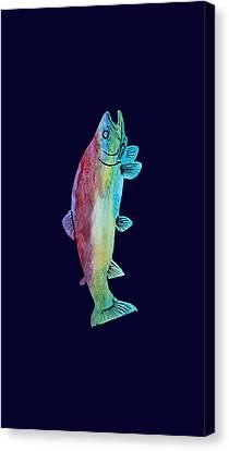 Rainbow Trout Canvas Print by Jenny Armitage
