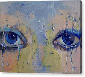 Raindrops Canvas Print by Michael Creese