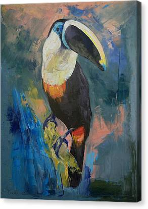 Rainforest Toucan Canvas Print by Michael Creese