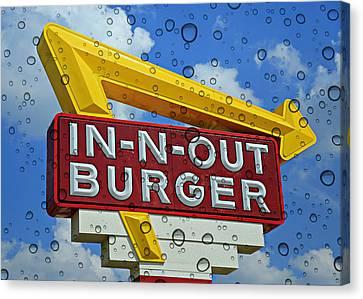 Raining Cali Classic Burgers Canvas Print by Stephen Stookey