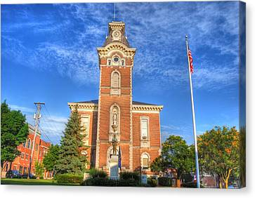Raintree County Courthouse - Independence Day Canvas Print by Mark Orr