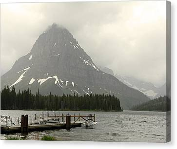 Rainy Day At Glacier National Park Canvas Print by Patricia Januszkiewicz