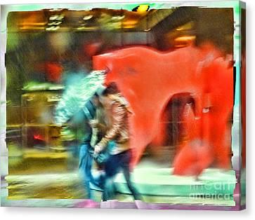 Rainy Day In New York City Canvas Print by Jeff Breiman