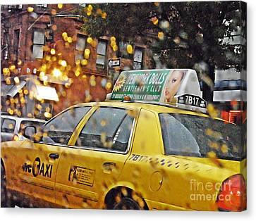 Rainy Day Nyc Canvas Print by Sarah Loft