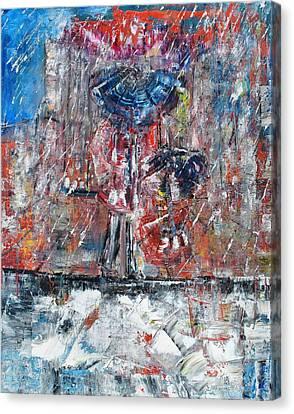 Rainy Canvas Print by Evelina Popilian