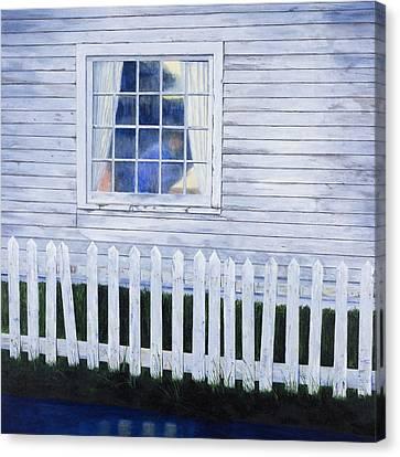 Rainy Morning Blues Canvas Print by Garry McMichael