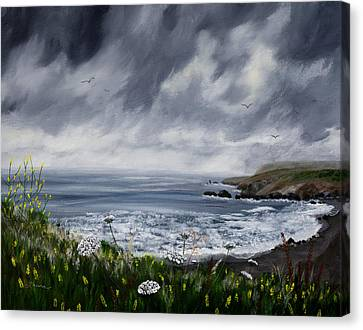 Rainy Springtime In Pacifica Canvas Print by Laura Iverson