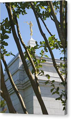 Raleigh Nc Lds Temple Canvas Print by Nathanael Verrill