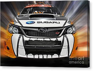 Rally Cross Canvas Print by Tom Gari Gallery-Three-Photography