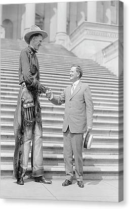 Ralph Madson And Us Senator Canvas Print by Library Of Congress