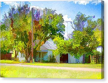 Ranch House Painting Canvas Print by Linda Phelps