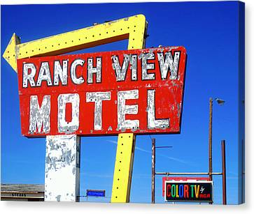 Ranch View Motel Canvas Print by Gia Marie Houck