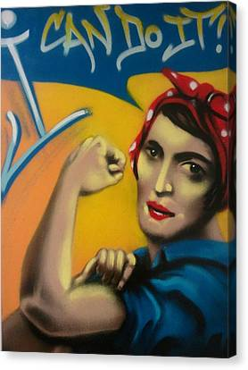 Rand The Riveter Canvas Print by Defstar
