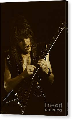 Randy Rhoads At The Cow Palace  Canvas Print by Daniel Larsen