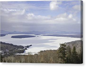 Rangeley Maine Winter Landscape Canvas Print by Keith Webber Jr