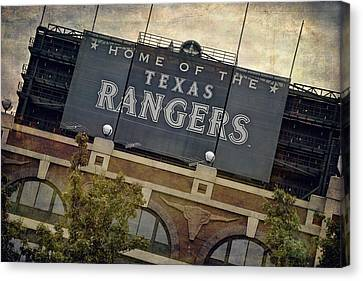 Rangers Ballpark In Arlington Color Canvas Print by Joan Carroll