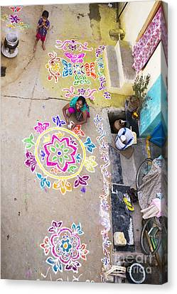 Rangoli Street Canvas Print by Tim Gainey